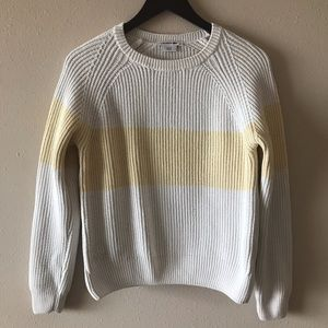 Lacoste Cream and yellow strip sweater